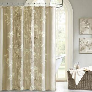 Madison Park Vaughn Taupe Shower Curtain